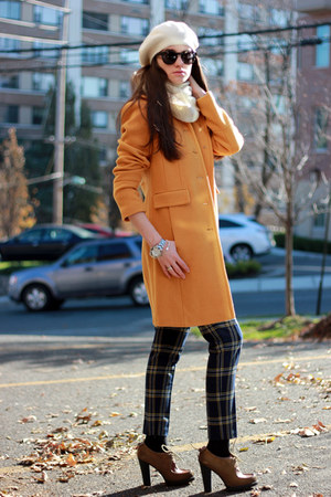 mustard calvin klein coat - off white JCrew scarf