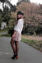 Zara sweater - Jeffrey Campbell shoes - Karstadt hat - Primark skirt