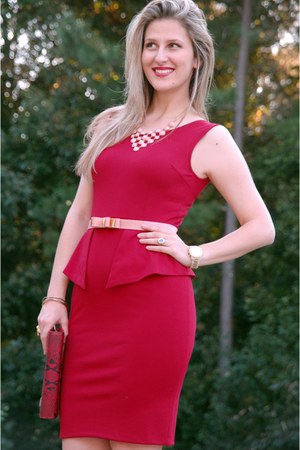 peplum pencil TeodoraBcom dress
