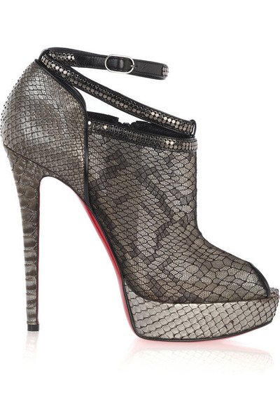 silver Christian Louboutin shoes - black Christian Louboutin - silver Christian