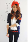 Navy-else-jeans-red-wc-hat-red-forever-21-belt-ivory-old-navy-blouse