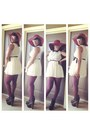 Black-leather-jeffery-campbell-boots-cream-sheer-vintage-dress