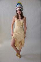tan vintage dress