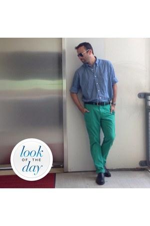 American Eagle shirt - Fossil sunglasses - green American Eagle pants