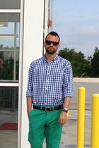 gingham IZOD shirt - green American Eagle pants