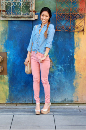 Topshop top - harper mid-rise JBrand jeans - natasha Marc by Marc Jacobs bag