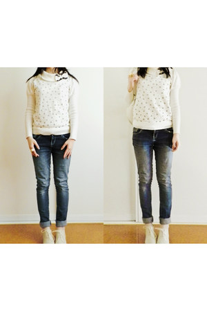 cream Yesstyle shoes - navy JayJays jeans