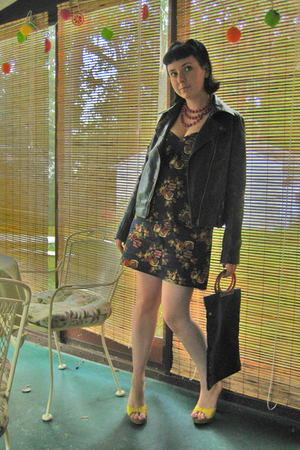 handmade dress - Silence &amp; Noise jacket - Target shoes - Forever21 accessories -
