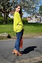 gold Zara sweatshirt