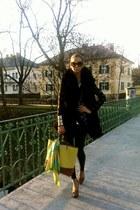 DIY LACE BLAZER blazer - chartreuse Codello scarf - yellow no brand bag