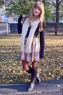 Black-vintage-boots-cream-knit-gifted-scarf-black-thifted-top