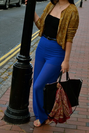 vintage jacket - Zara bag - H&M pants - Primark belt - black new look bodysuit