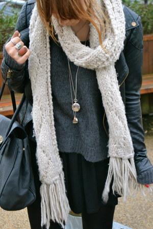 H&M jumper - H&M boots - Topshop dress - Miss Selfridge jacket - H&M scarf