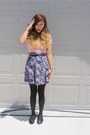 Light-pink-lace-crop-forever-21-top-navy-all-that-jazz-skirt