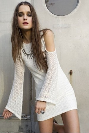 white lace detail Monki dress