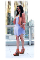 linen bcbg max azria blazer - Aldo shoes - Talula via Aritzia dress