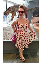 red modcloth dress - red modcloth sunglasses