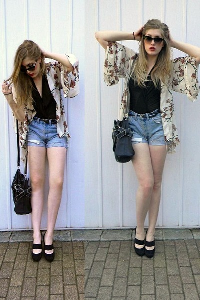 eggshell kimono lulus top - black Costa Blanca bag