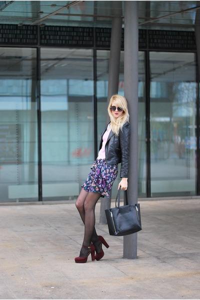 VJ-style bag - Sheinside jacket - VJ-style sunglasses - Front Row Shop top