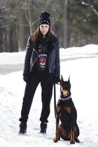 biker Forever 21 jacket - mendocino pants - dunk nike sneakers