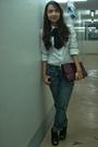 White-club-monaco-shirt-from-hongkong-jeans-black-parisian-shoes-black-man