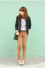 Camel-jeans-navy-blazer-white-topshop-shirt-black-purse-off-white-heels