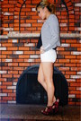 White-striped-h-m-jacket-white-h-m-shorts-black-talula-top