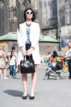Zara coat - Monnari bag - Zara skirt - Stradivarius top