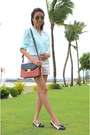 Aldo-shoes-charles-keith-bag-bershka-shorts-forever-new-blouse