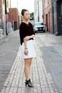 White-waist-tie-zara-dress-crimson-velvet-unknown-top