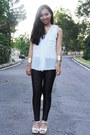 Black-old-october-origin-leggings-white-chiffon-cotton-on-blouse