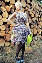 eco Dumpster Design dress - clutch lookbookstore bag - Charlotte Russe pumps