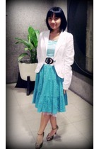 blazer - Petit Monde dress - Celine shoes - landmark belt