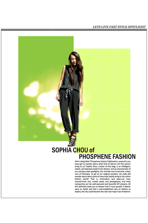 Sophia Chou of Phosphene Fashion