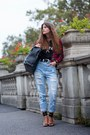 Sky-blue-high-waist-choies-jeans-ruby-red-tartan-choies-jacket