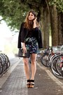 Black-esprit-jacket-black-mango-shirt-black-clutch-bag-black-heels