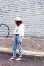 Sky-blue-mom-jeans-zara-jeans-beige-h-m-hat-silver-jcrew-sandals
