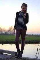 H&M blazer - Alysa boots - Primark top - H&M pants