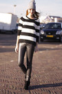 H-m-boots-striped-primark-sweater-shiny-h-m-pants