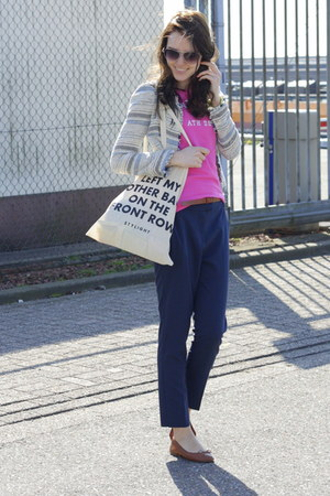 Zara blazer - stylight bag - Abercrombie top - Primark pants
