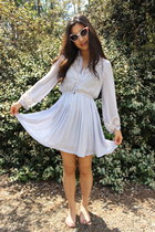 Pleats and lace dress for Spring