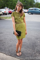 velvet vintage dress - GoMax shoes - clutch vintage purse