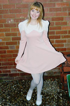 Pinkoholic dress - River Island tights - bow front Matalan flats