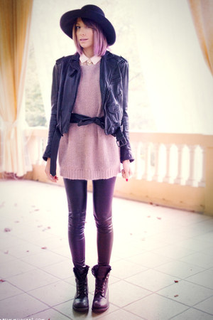 black ASH boots - black Colours &amp; Beauty hat - black Zara jacket
