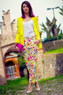 Yellow-msgm-jacket-hot-pink-diane-von-furstenberg-bag-hot-pink-msgm-pants