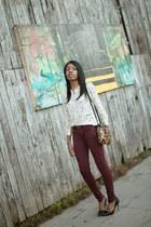 Isabel Marant blouse - Siwy jeans - Jerome Dreyfuss bag - Zara heels