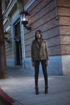 thakoon boots - Siwy jeans - Blk Dnm jacket - Blk Dnm top