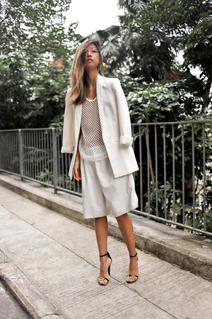 boyfriend Zara blazer - philip lim shorts - Alexander Wang sandals