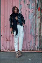 vintage jacket - American Apparel intimate - vintage pants - Topshop boots - Mar