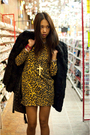Gold-rodarte-for-target-dress-black-bcbg-boots-black-vintage-coat-black-ch